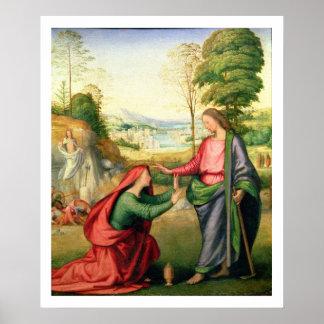 Noli me Tangere, c.1508 (oil on canvas) Poster