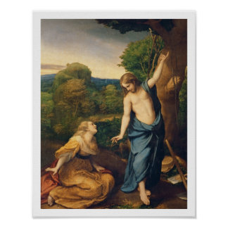 Noli Me Tangere, c.1534 (oil on canvas) (for detai Poster
