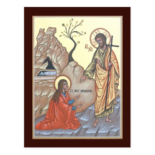 Noli Me Tangere Prayer Card Postcard