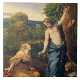 Noli yo Tangere, c.1534 (aceite en lona) (para el  Azulejo Cuadrado Grande