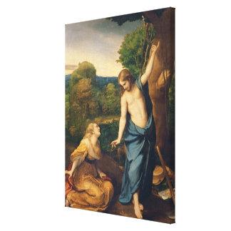 Noli yo Tangere, c.1534 (aceite en lona) (para el  Impresión En Lona