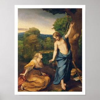 Noli yo Tangere, c.1534 (aceite en lona) (para el  Póster
