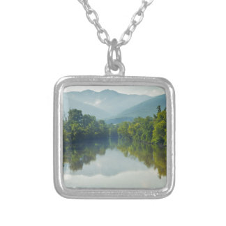 Nolichucky River in East Tennessee Square Pendant Necklace