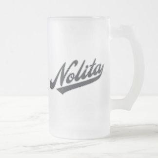 Nolita Frosted Glass Beer Mug