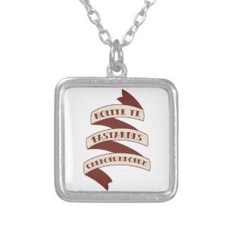 Nolite Te Bastardes Carborundorum Silver Plated Necklace