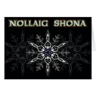 Nollaig Shona Black & Silver Greeting Card