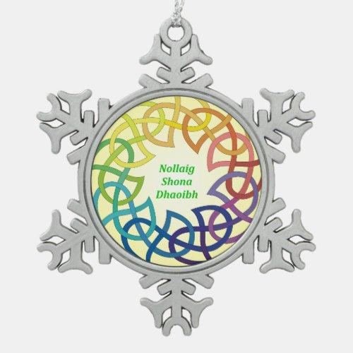 Nollaig Shona Dhaoibh - Irish Christmas Snowflake