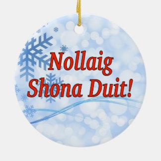 ¡Nollaig Shona Duit! Felices Navidad en el rf Ornamentos De Reyes Magos