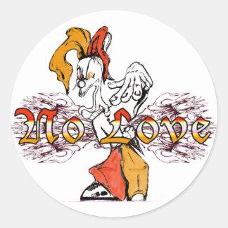 NoLove (gorra) Pegatina Redonda