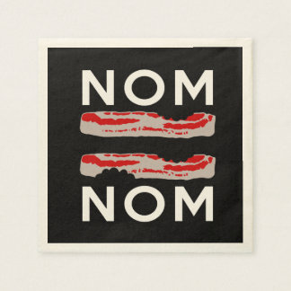 Nom Bacon Bacon Nom Paper Napkin