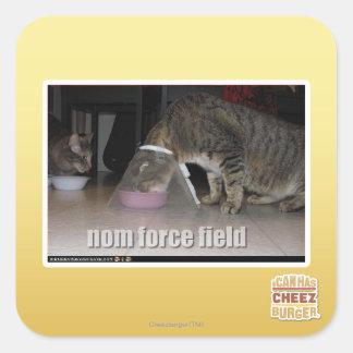 nom force field square sticker