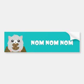 Nom Hampster Bumpter Stick Bumper Sticker