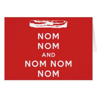 Nom Nom and Nom Nom Nom Greeting Card