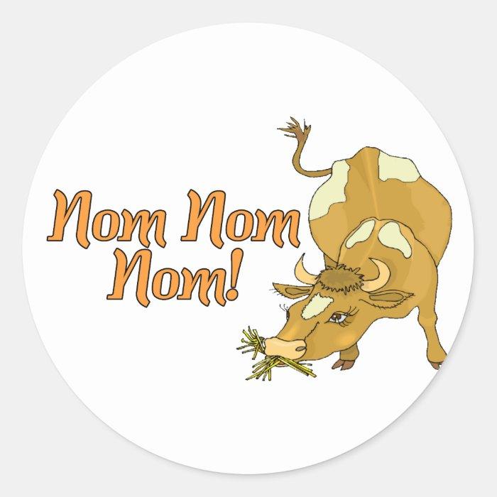 Nom Nom Cow Classic Round Sticker