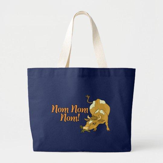 Nom Nom Cow Large Tote Bag