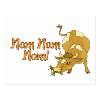Nom Nom Cow Postcard