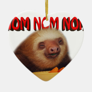nom nom nom ceramic ornament
