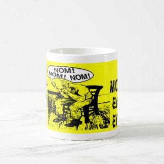 NOM NOM NOM: Hand Mouths Classic White Coffee Mug