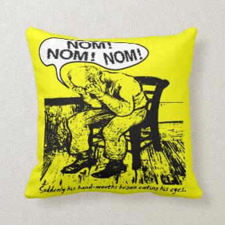 NOM NOM NOM: Hand Mouths Pillow