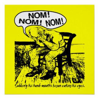 NOM NOM NOM: Hand Mouths Poster