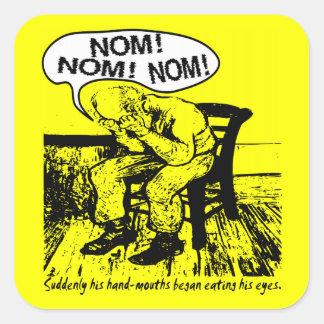 NOM NOM NOM: Hand Mouths Sticker
