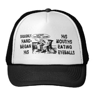 NOM NOM NOM: Hand Mouths Trucker Hat