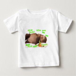 nom nom nom sloth baby T-Shirt