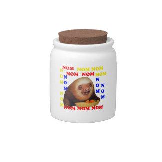 nom nom nom sloth candy jar