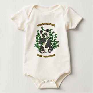 Nom Nom Panda Baby Bodysuit