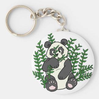 Nom Nom Panda Basic Round Button Keychain