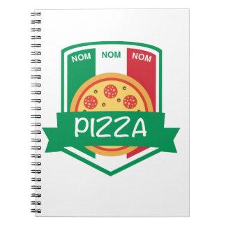 Nom nom Pizza Note Book