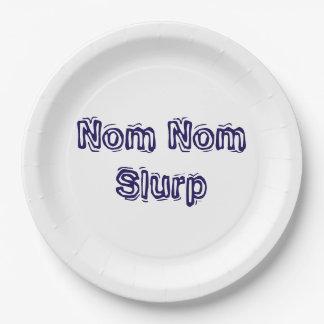 Nom Nom Slurp Paper Plate