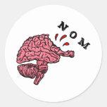 nom round sticker