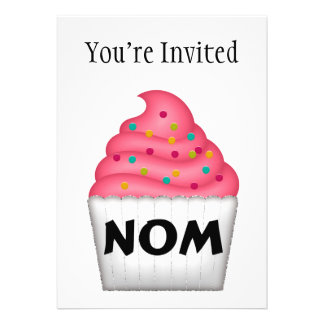 Nom Yummy Cupcake With Sprinkles Cards