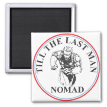 Nomad Troop White Background, Uncolored Magnet