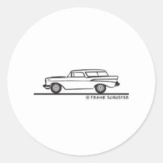 Nómada 1957 de Chevrolet Pegatinas Redondas