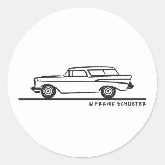 Nómada 1957 de Chevrolet Pegatina Redonda