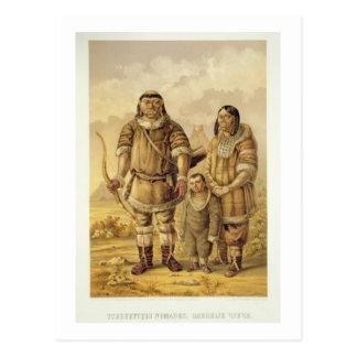 Nómadas de Chukchi, grabados por Winckelmann y los Tarjetas Postales