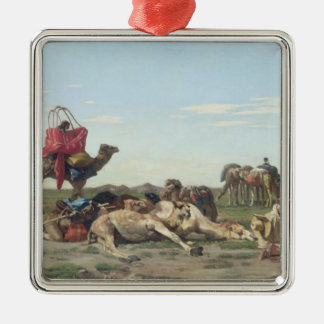 Nomads in the Desert, 1861 Metal Ornament