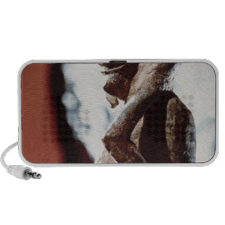 Nomali figure of the Mende tribe iPhone Speaker