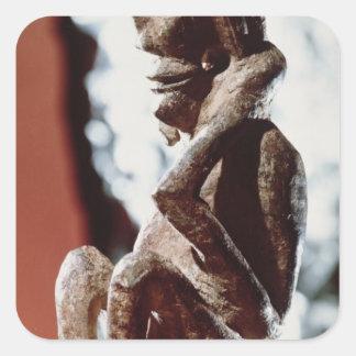 Nomali figure of the Mende tribe Square Sticker