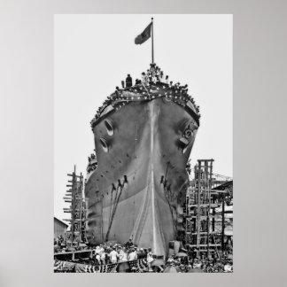 Nombramiento de la ceremonia para BB-39 USS Ariz Poster