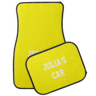 Nombre a juego del color del regalo del amarillo alfombrilla de auto