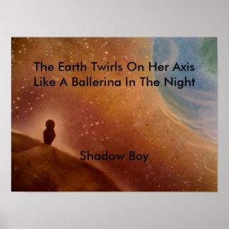 Nombre a su muchacho de la sombra de la impresión póster
