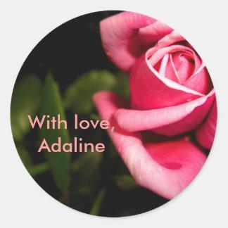 Nombre: Adaline Pegatina Redonda