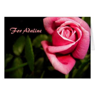 Nombre: Adaline Tarjeta De Felicitación