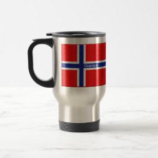 Nombre adaptable de la bandera noruega taza de café