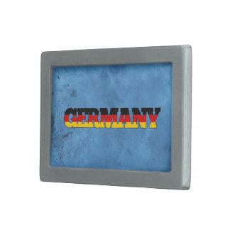 Nombre alemán y bandera en la pared fresca hebilla cinturón rectangular