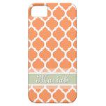 Nombre anaranjado claro y ligero del personalizado iPhone 5 Case-Mate funda