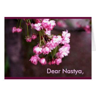 Nombre: Anastasiya/Nastya Tarjeta De Felicitación